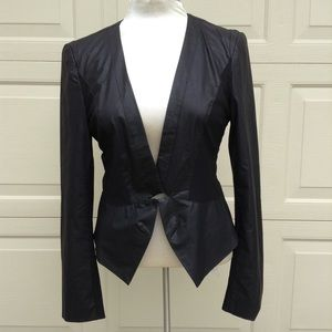 sexy black ARK & CO fitted leather jacket S M